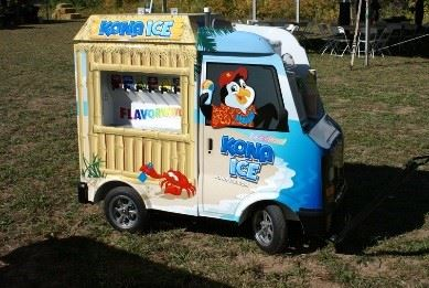 Kono Ice Food Truck on Lawn