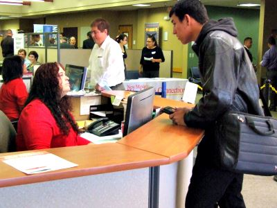 Workforce Customer Speaking to an Employee