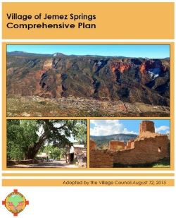 Jemez Springs Comprehensive Plan Cover