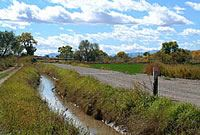 Acequia (Irrigation Ditch) in Los Lunas