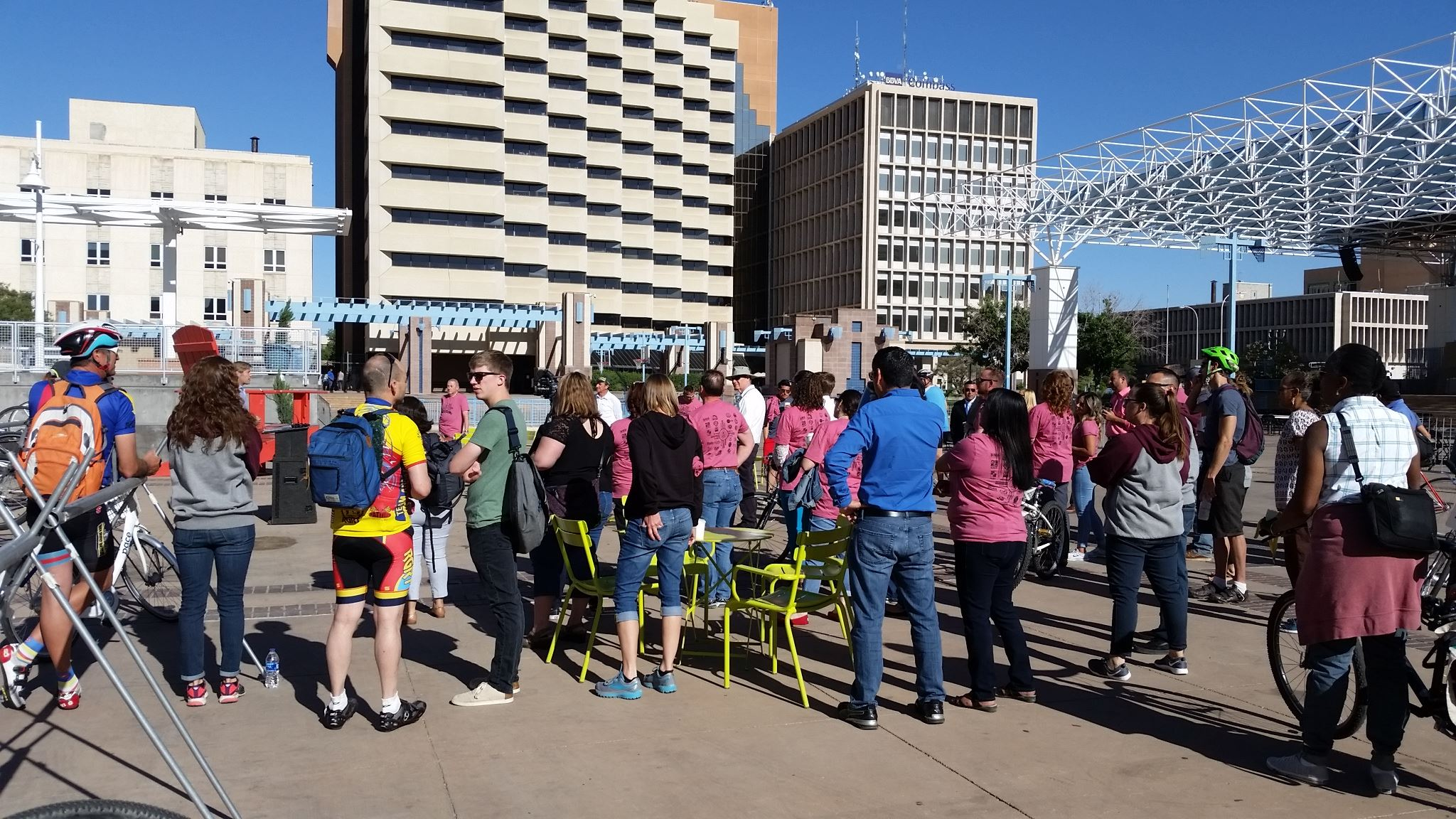 bike to work 2018 at the civic plaza