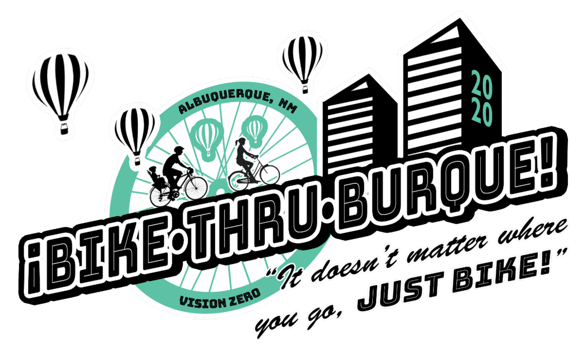 Bike Thru Burque Skyline Logo