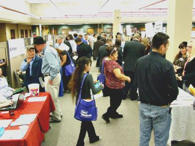 People Attending a Job Fair