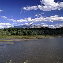 Rio Grande River with the Sandias
