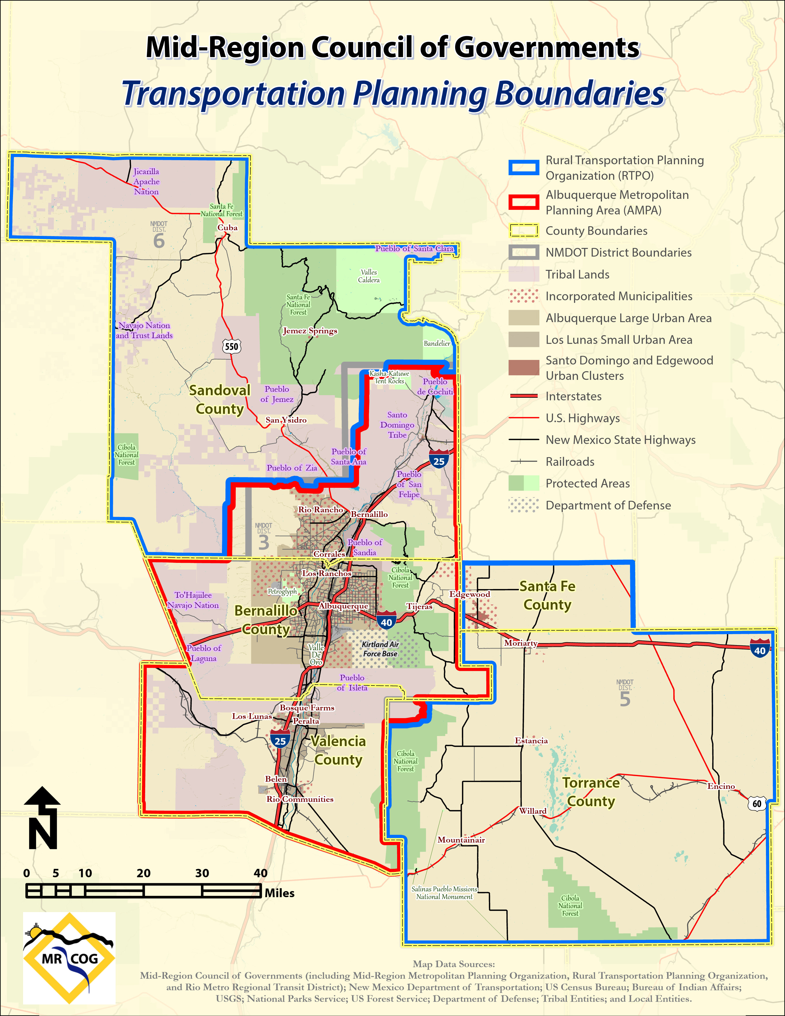 Transportation Planning Boundaries Map
